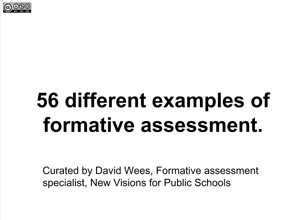 56 Different Examples of Formative Assessment