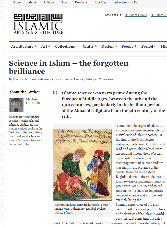 Science in Islam-The Forgotten Brilliance