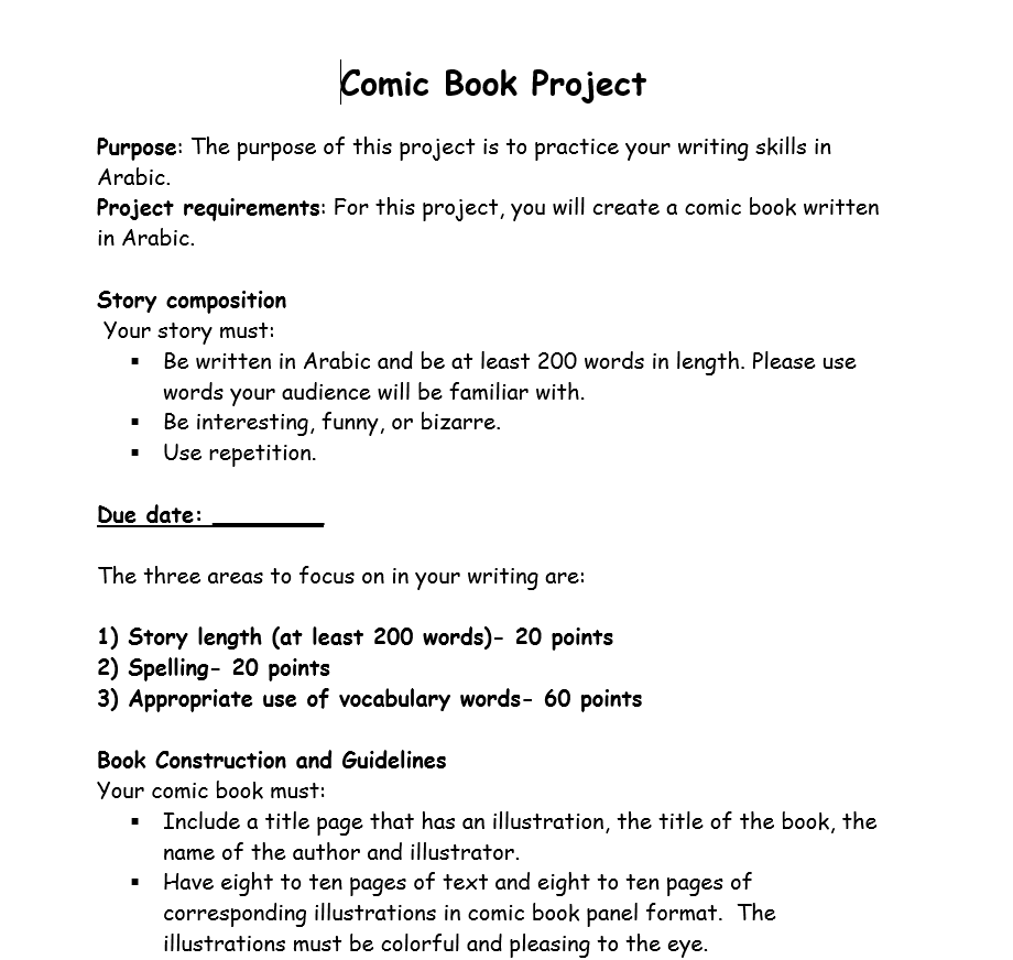 Comic Book Project