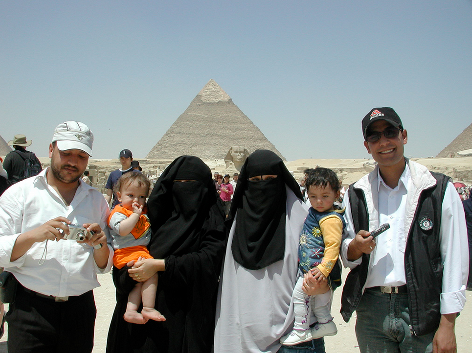 An Arab Family Visits the Pyramids