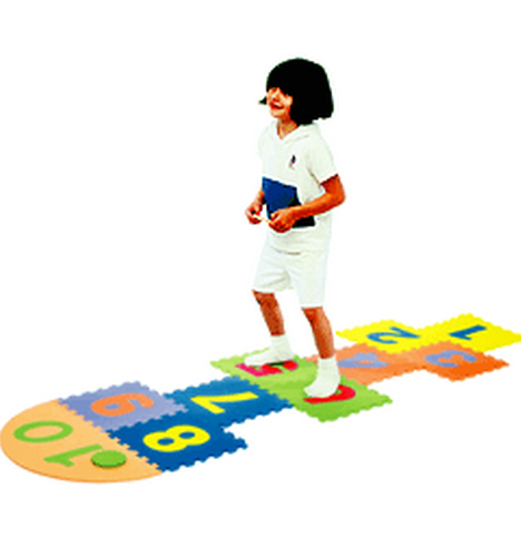 Arabic Numbers Hopscotch Foam Playmat
