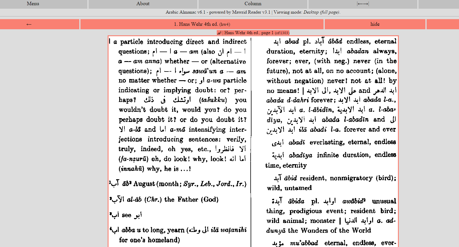 hans wehr arabic dictionary pdf