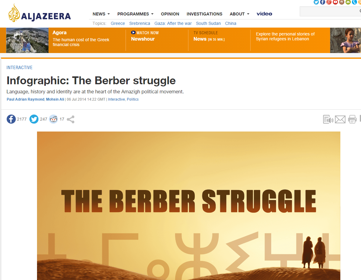 Infographic: The Berber Struggle