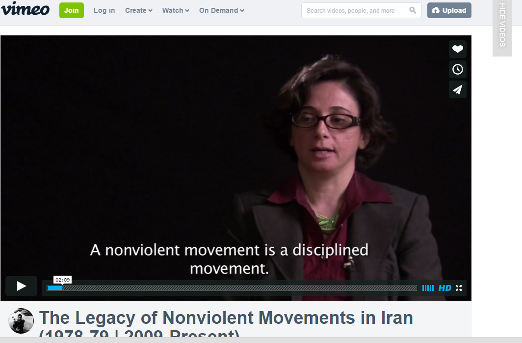The Legacy of Non-Violent Movements in Iran