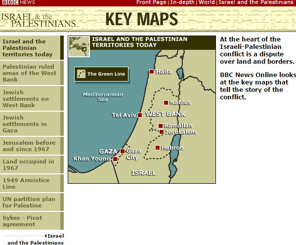 Israel and the Palestinians: Key Maps