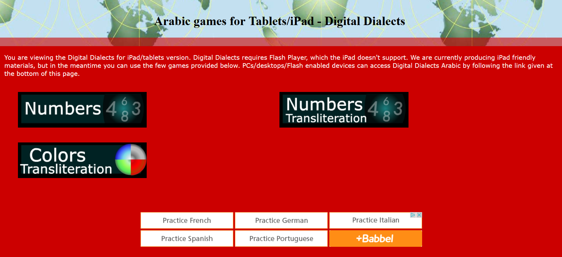 Arabic Numbers, Animals, and Colors Games