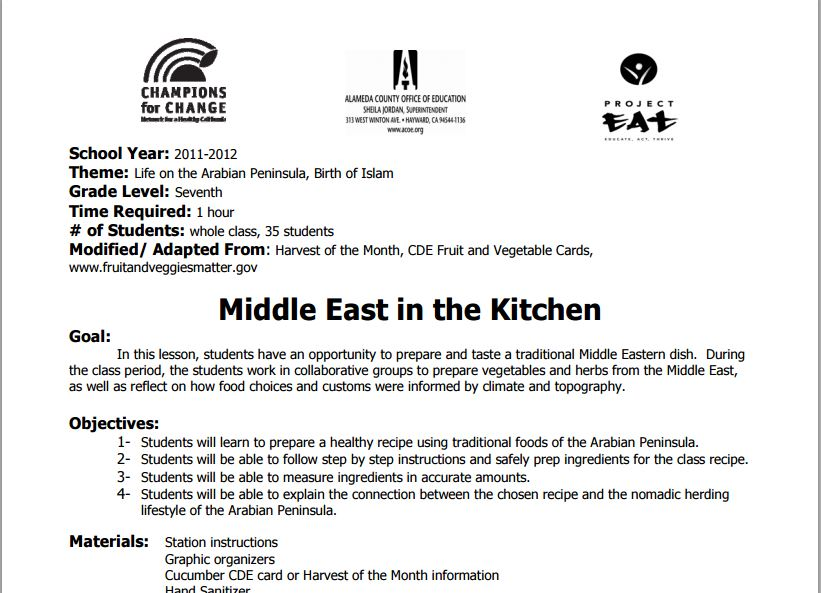 Middle East in the Kitchen