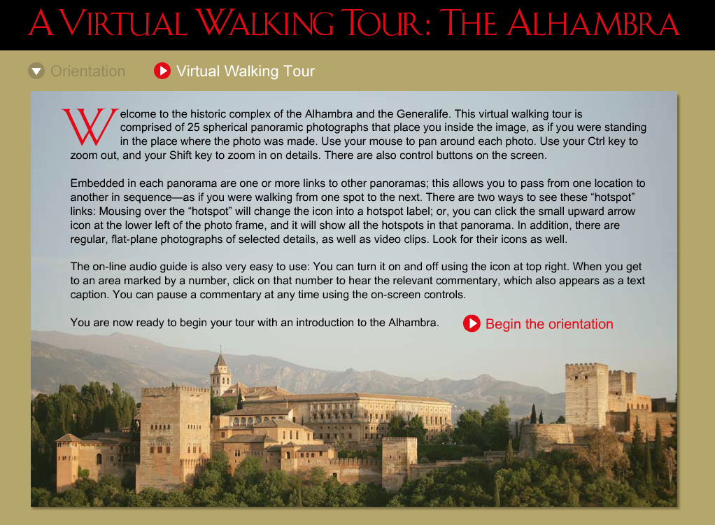 Virtual Walking Tours
