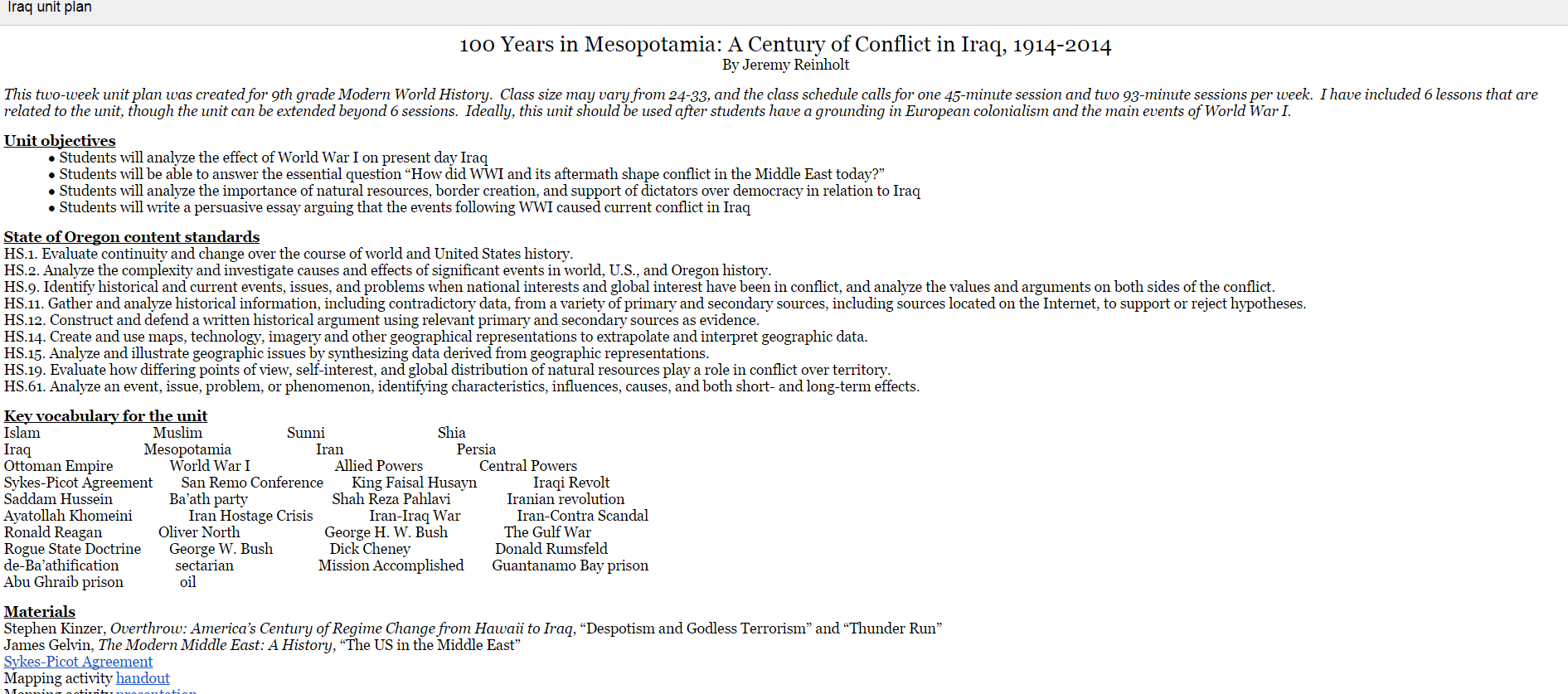 100 Years in Mesopotamia: A Century of Conflict in Iraq, 1914-2014