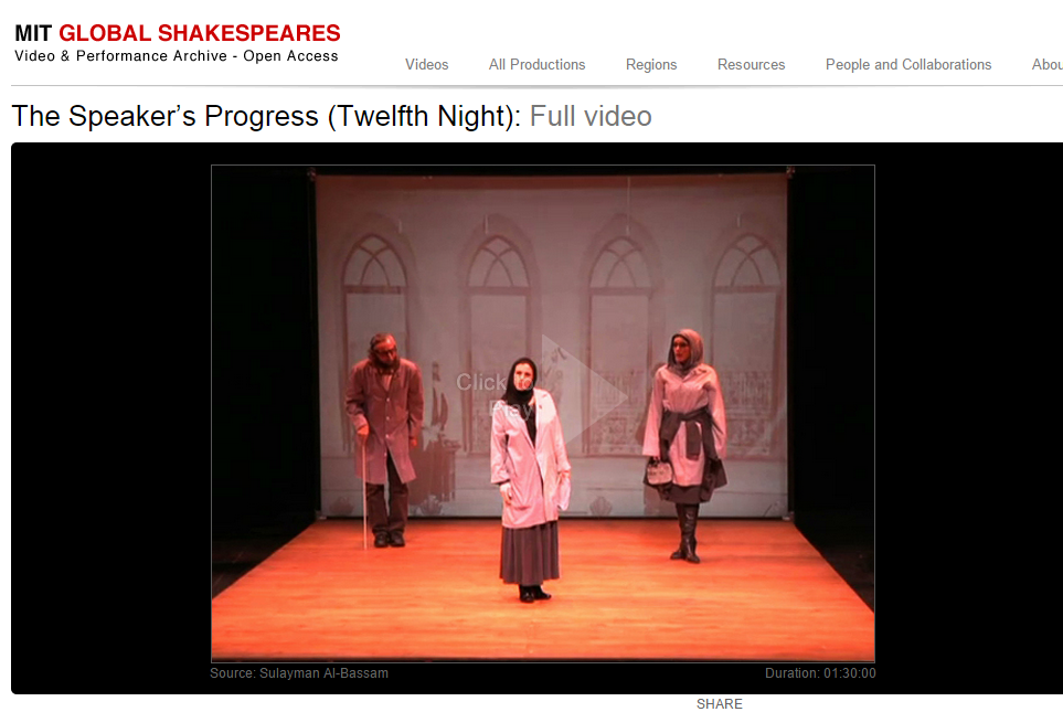MIT Global Shakespeares: Arab World