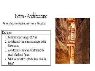Petra – Trade and Cultural Synthesis
