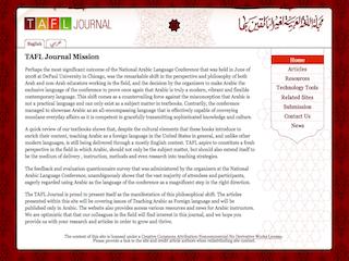 Teaching Arabic As a Foreign Language (TAFL)