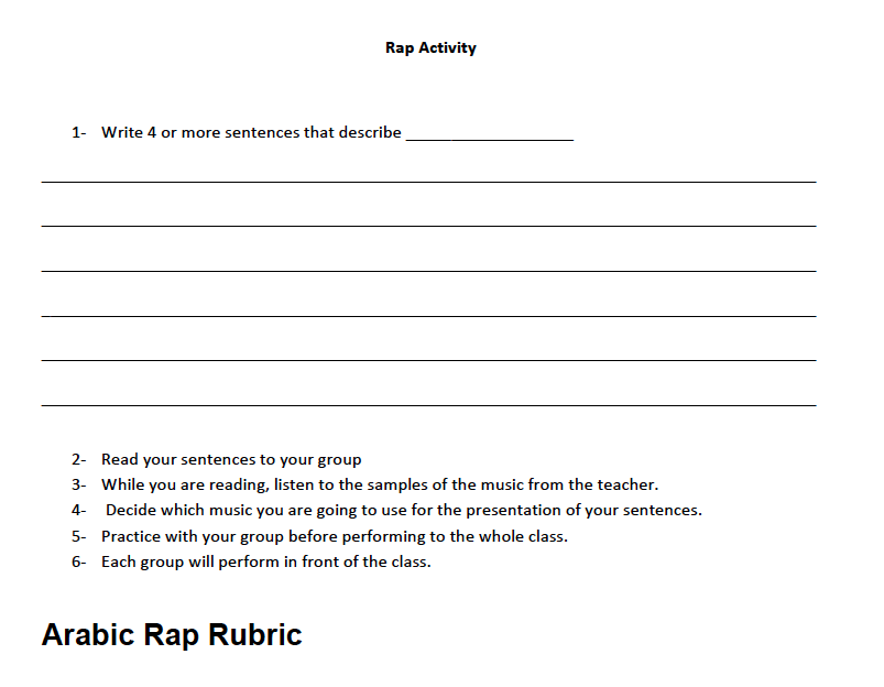 Rap Activity