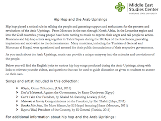 Hip Hop and the Arab Uprisings
