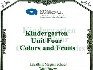Colors and Fruit Full Unit, Elementary