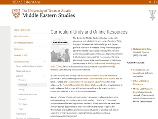 UT Austin Curriculum Units and Online Resources