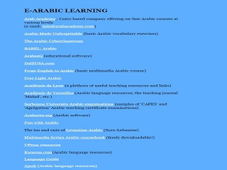 Arabic E-Learning
