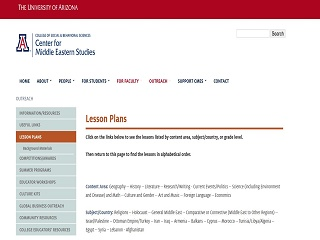 Lesson Plans (CMES at the University of Arizona)