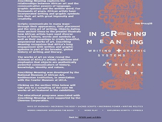 Inscribing Meaning: Writing and Graphic Systems in African Art