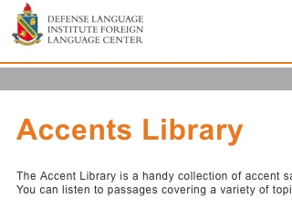 Accents Library