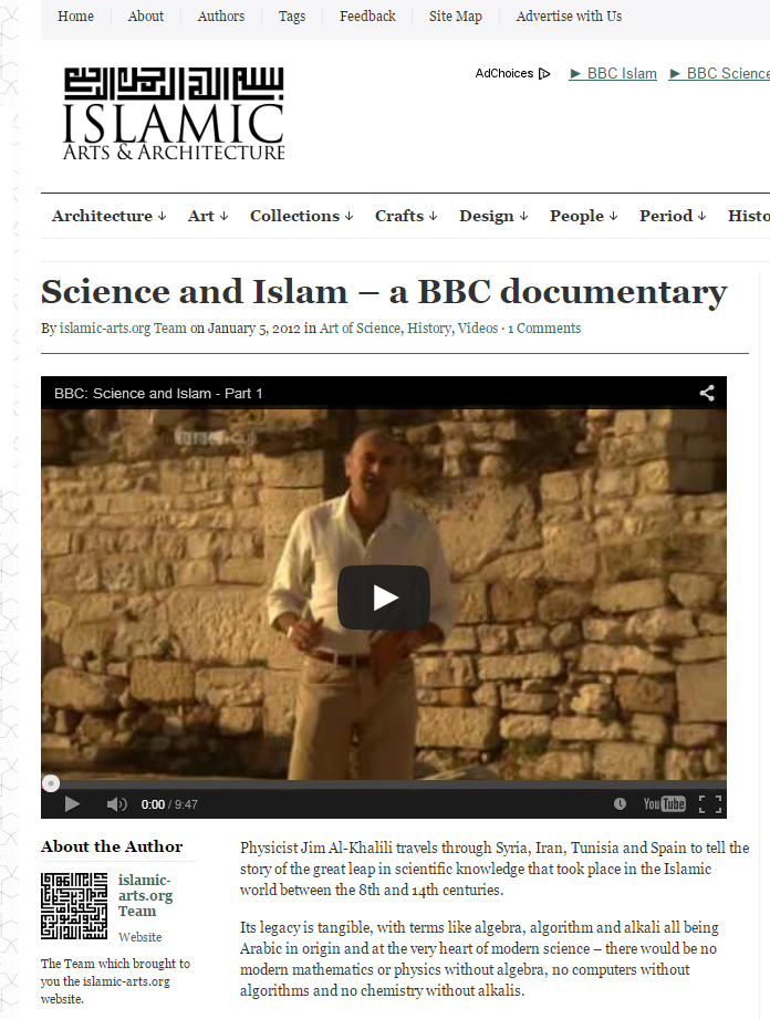 Science and Islam-A BBC Documentary