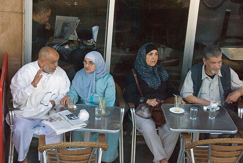 Couples in a Cafe in Morocco