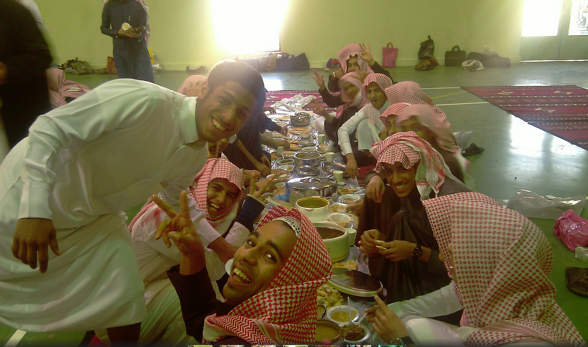 Iftar at a Saudi Boys' School