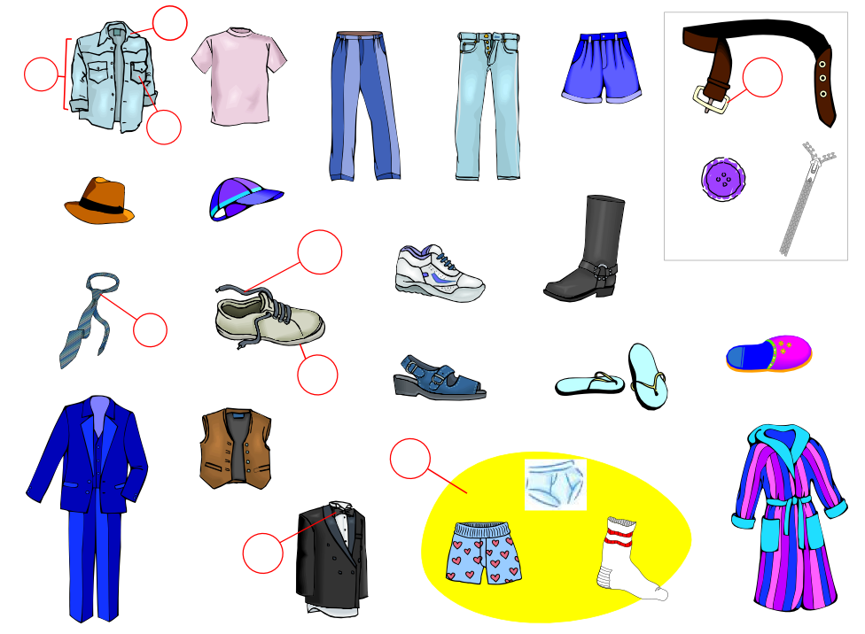Men's Clothing (Vocabulary)