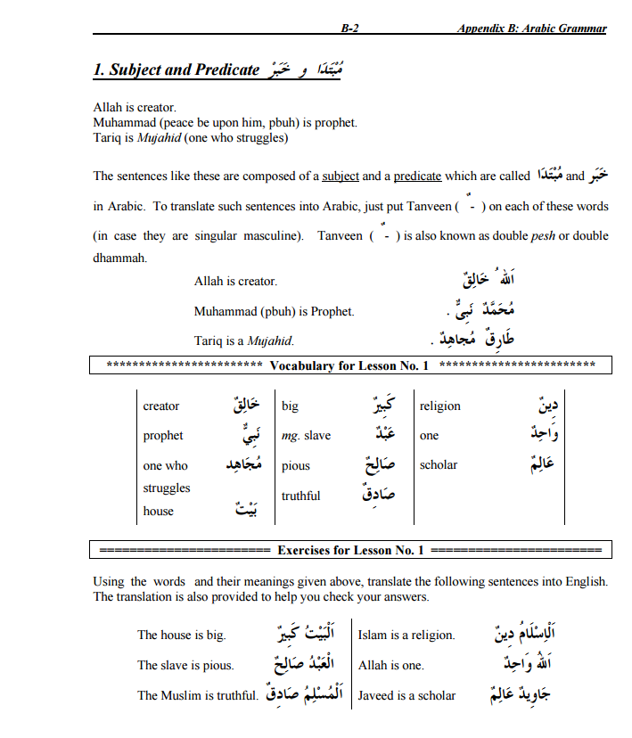 A brief journey through Arabic Grammar: Part 1