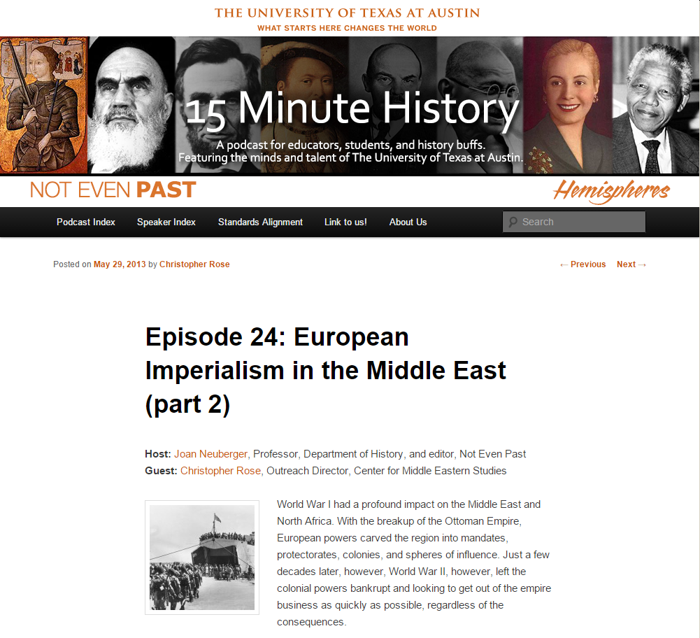 15 Minute History: European Imperialism in the Middle East, Part II