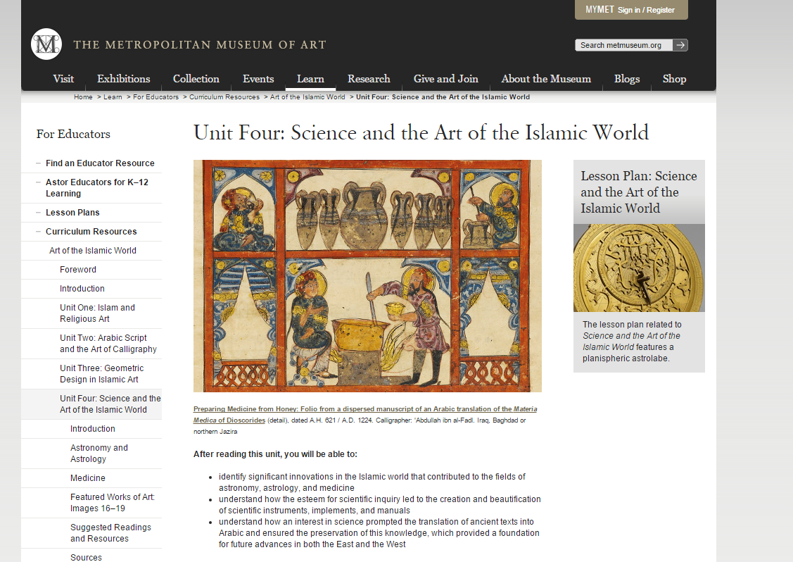 Science and the Art of the Islamic World