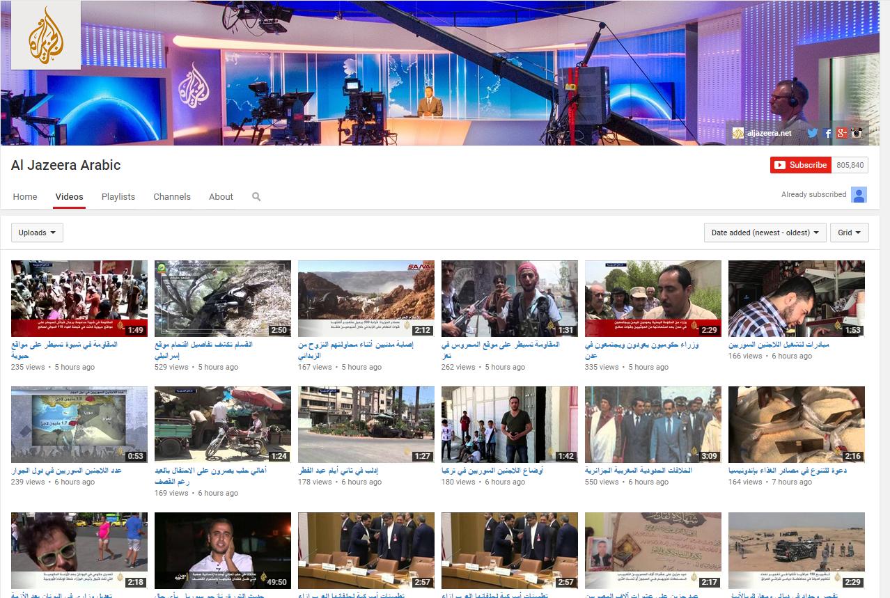 Al Jazeera Arabic (YouTube channel)