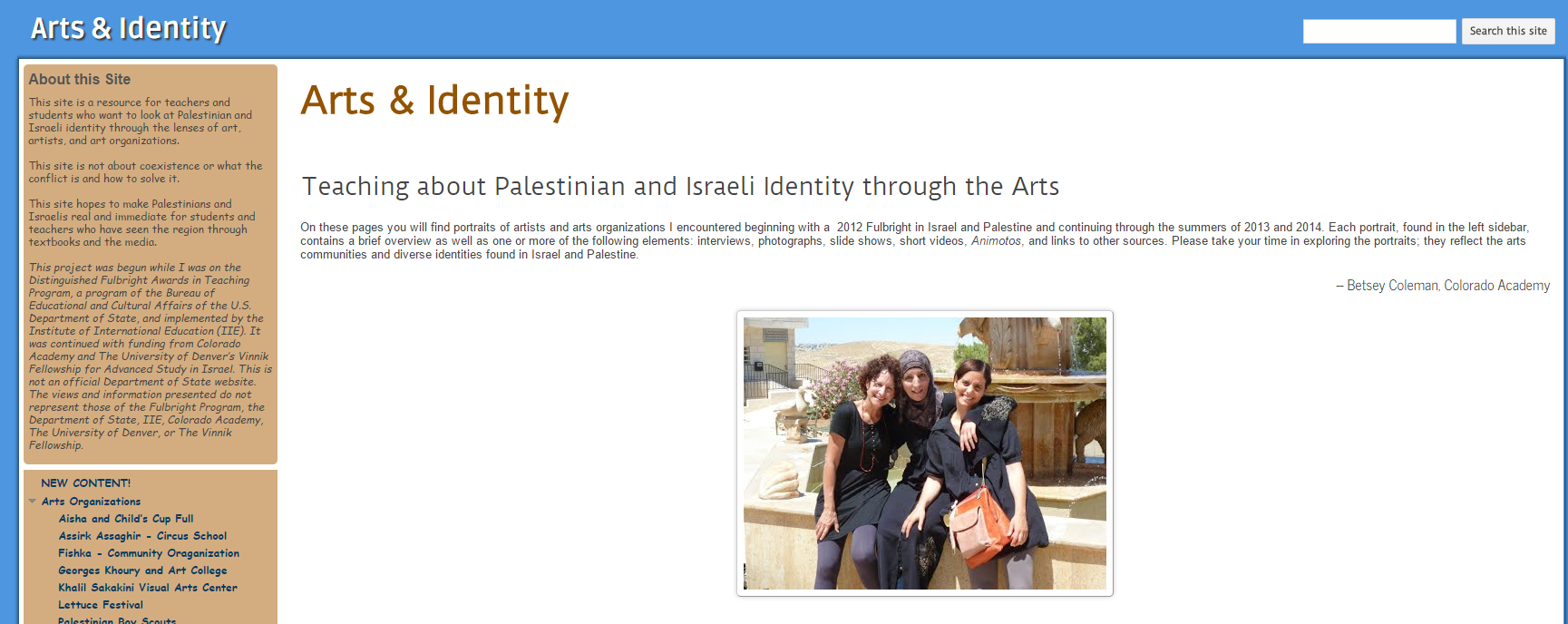 Arts & Identity: Teaching About Palestinian and Israeli Identity Through the Arts