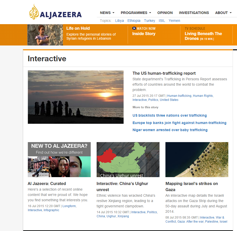 Al Jazeera: Interactive