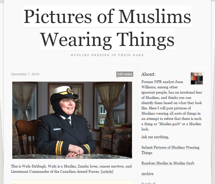 Pictures of Muslims Wearing Things