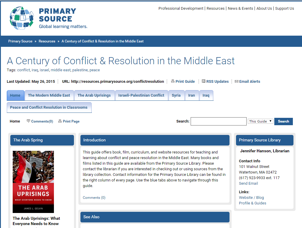 A Century of Conflict & Resolution in the Middle East
