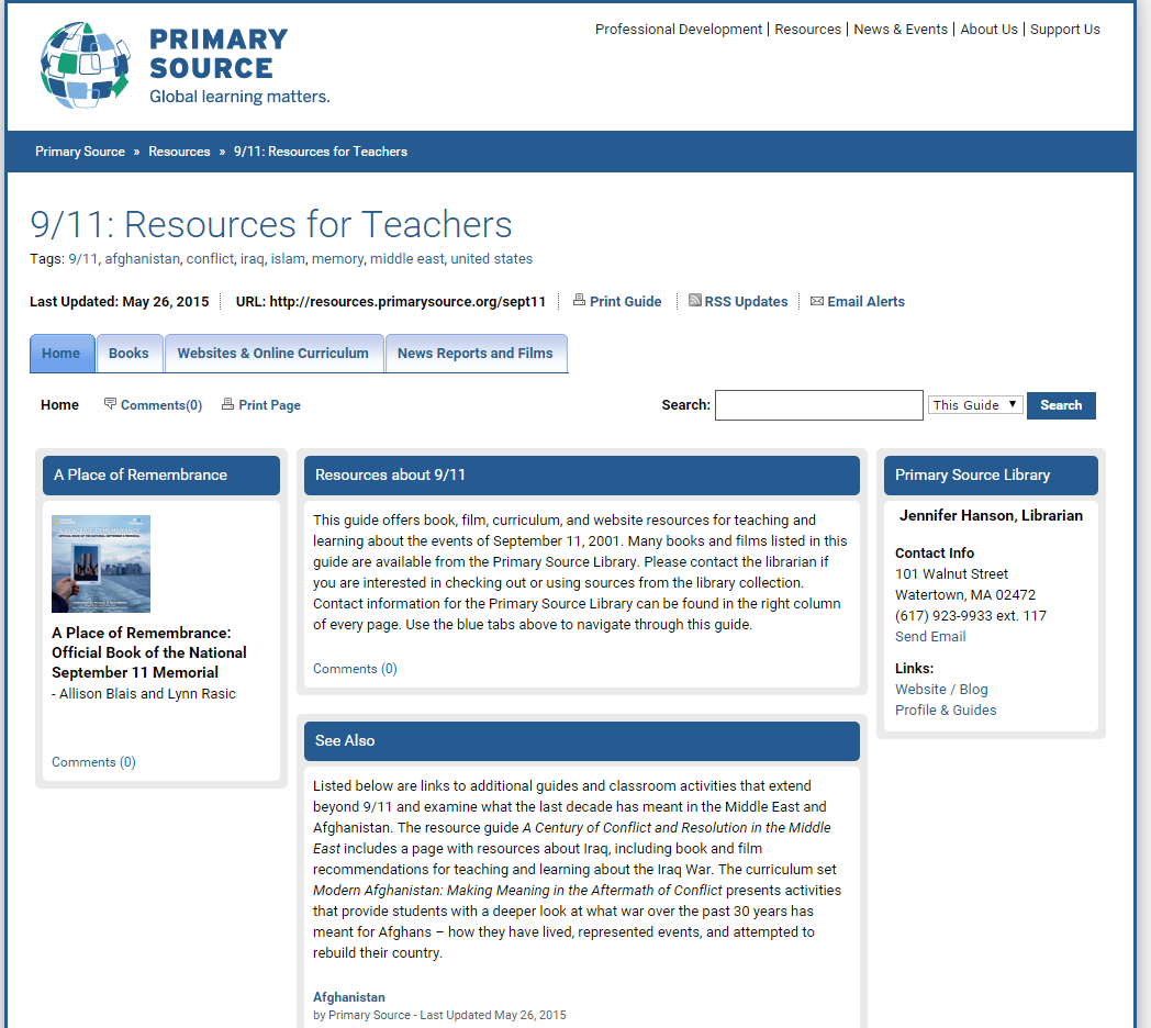 9/11: Resources for Teachers