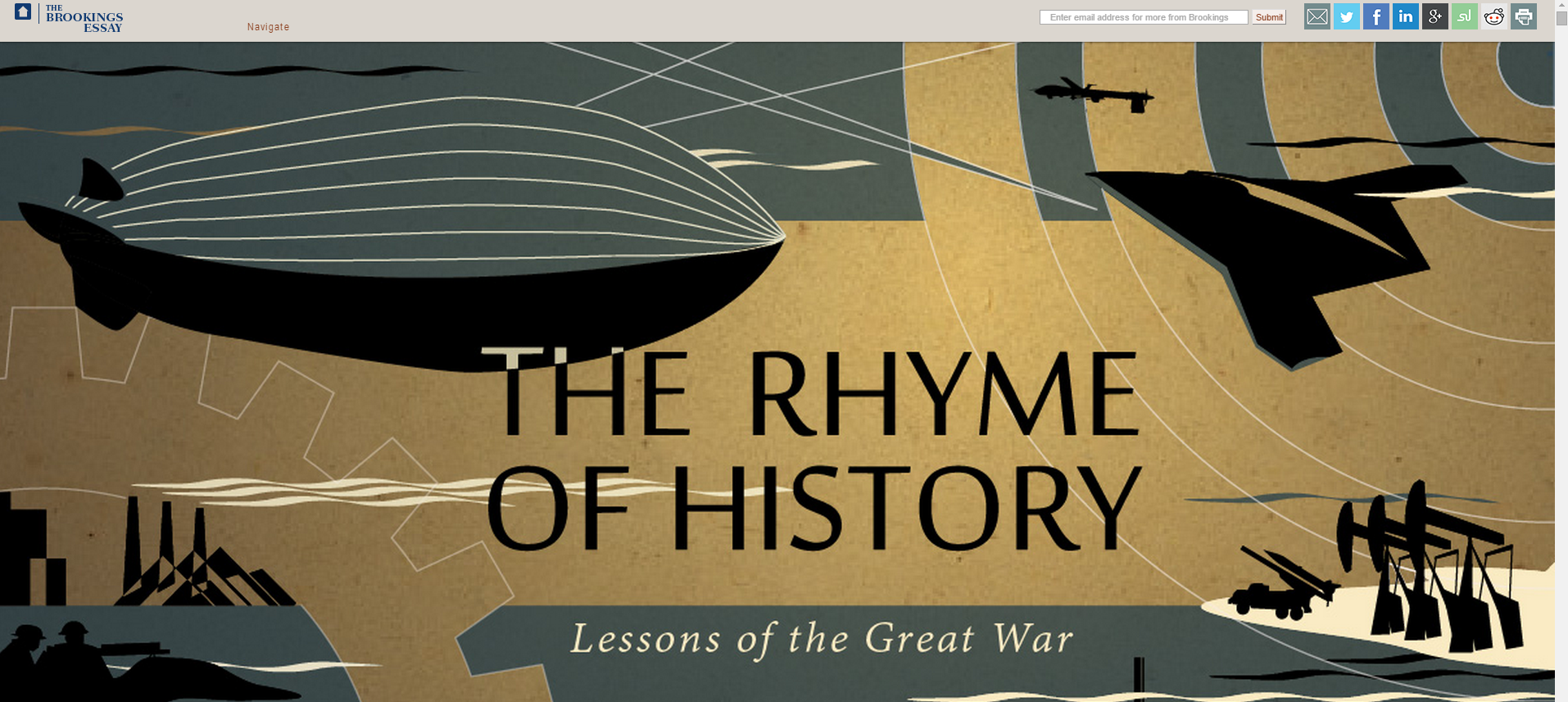 The Rhyme of History: Lessons from the Great War