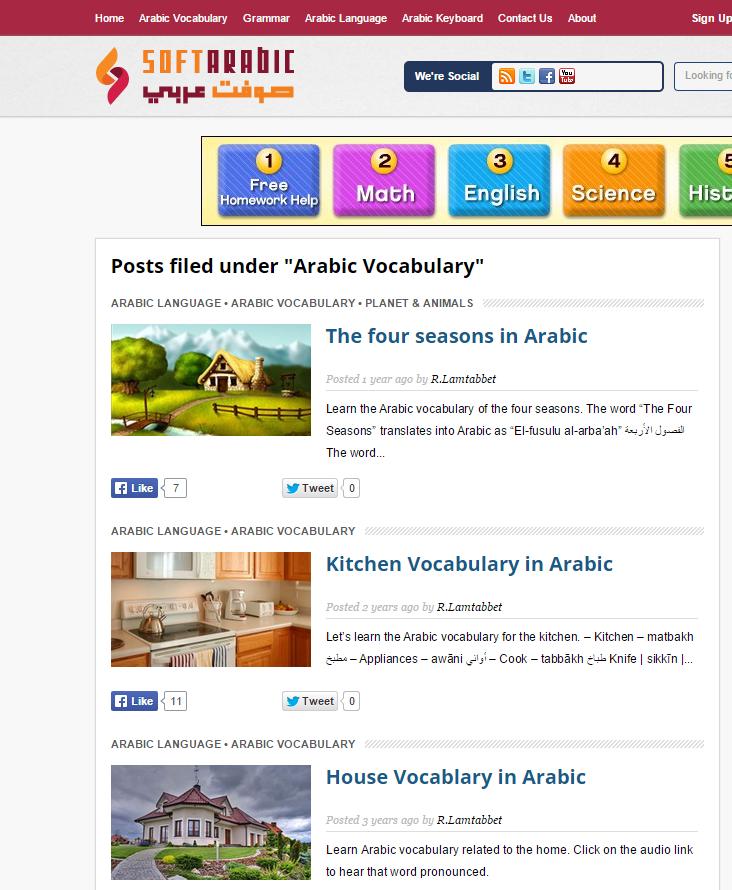 Arabic Grammar Posts with SoftArabic