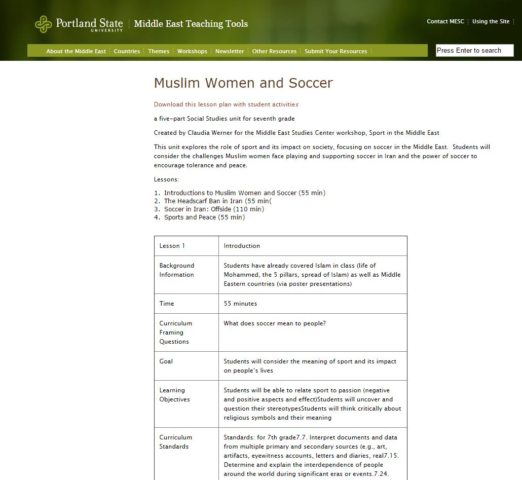 Muslim Women and Soccer