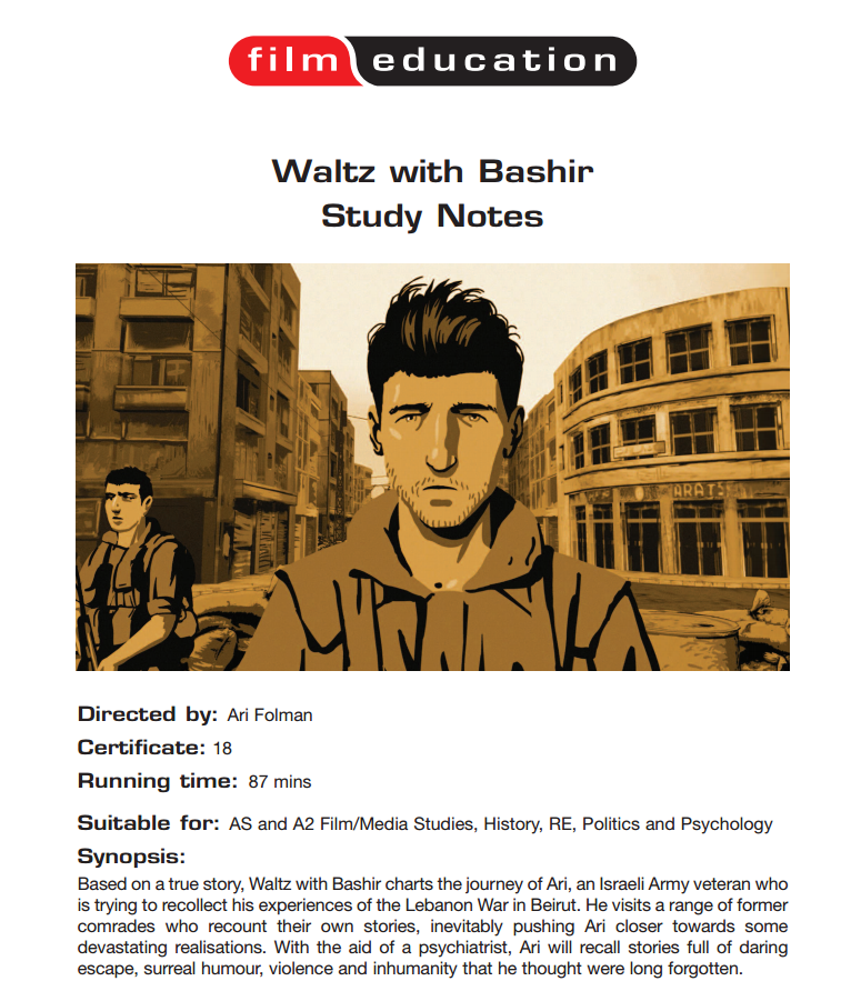 Waltz With Bashir: Study Notes