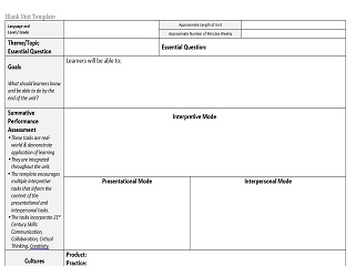 Lesson Plan Template for World languages