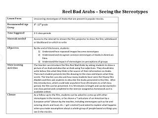 Reel Bad Arabs-Lesson Plan