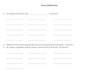 Poem Collaboration Worksheet