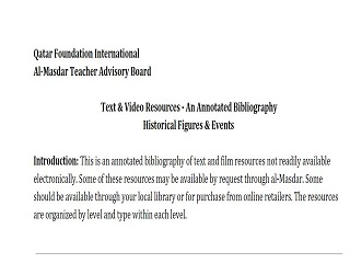 Annotated Bibliography: Historical Figures & Events