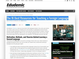 The 16 Best Resources for Teaching a Foreign Language